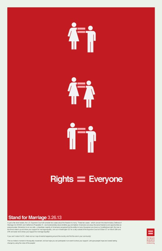Stand for Marriage poster by Hunter Langston, via Behance