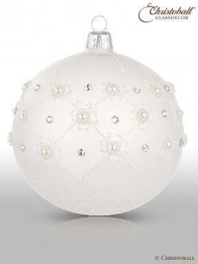 Christbaumkugeln Ornament.Prächtig Pompös Christbaumkugeln Weiss 2er Weihnachten
