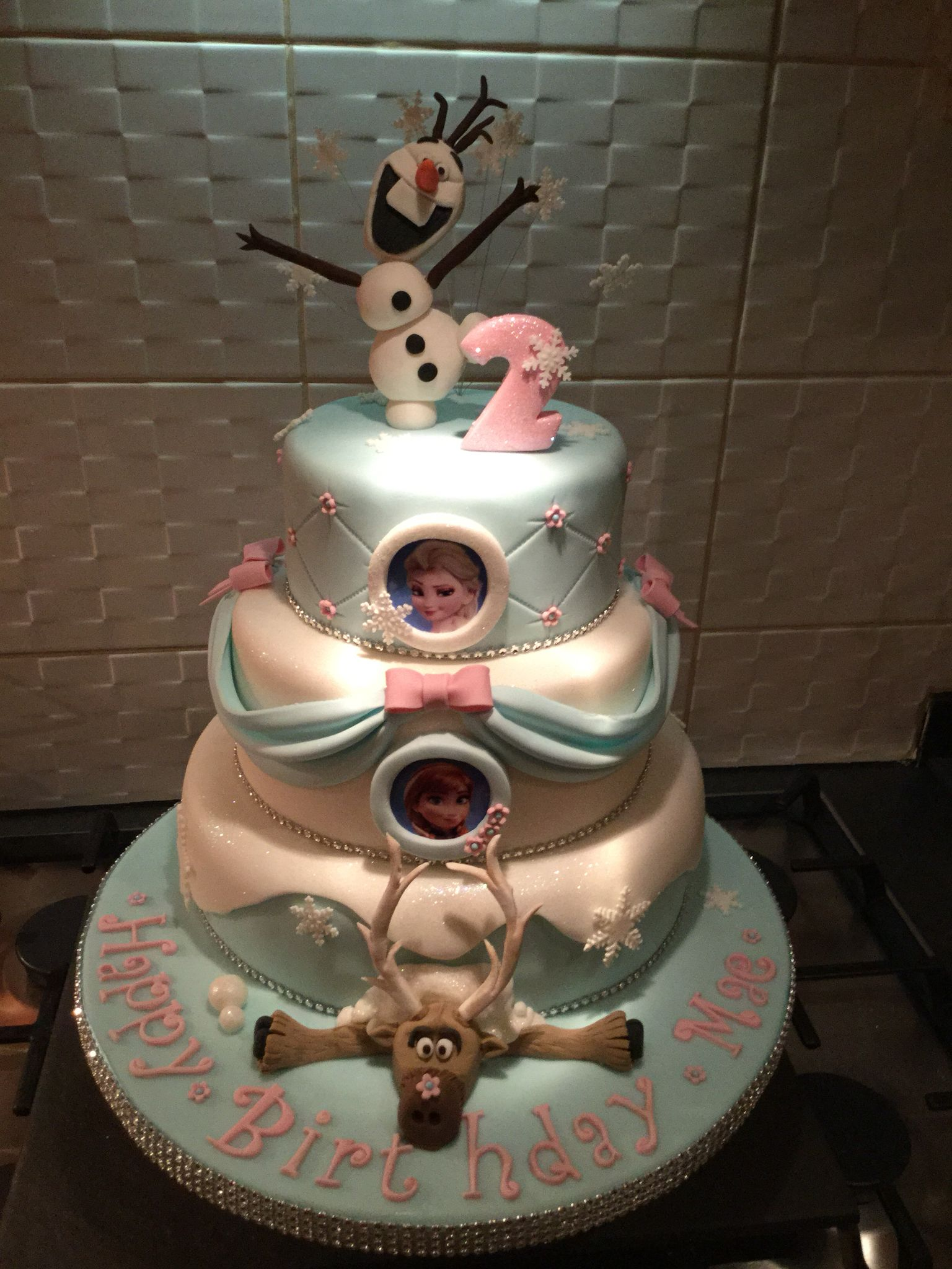 Frozen inspired birthday cake no 2