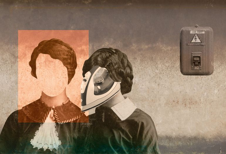 """Saatchi Online Artist: Stefano Perrone; Digital, 2013, Assemblage / Collage """"Donna di ferro"""""""