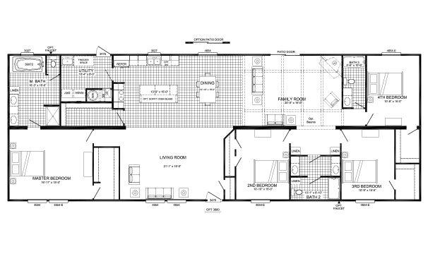 Mayhaw I B6011com Buccaneer Home Builders Mobile Home Floor Plans House Floor Plans Floor Plans