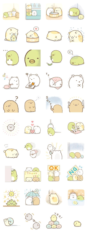 Sumikko Gurashi Animated Line Stickers Kawaii Drawings Kawaii Stickers Kawaii Doodles