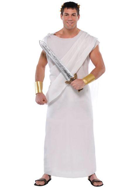 Roman Toga Adult ONE SIZE ~PLUS  Greek Julius Toga Costume Halloween Outfit LARP