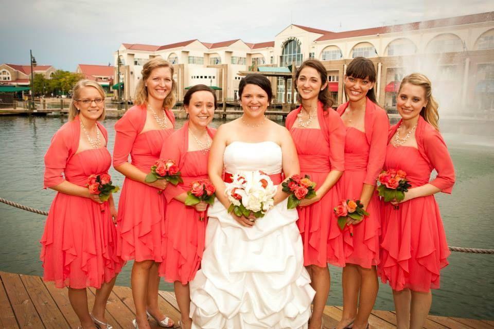 Bright Pink C Chiffon Strapless Dress Davids Bridal