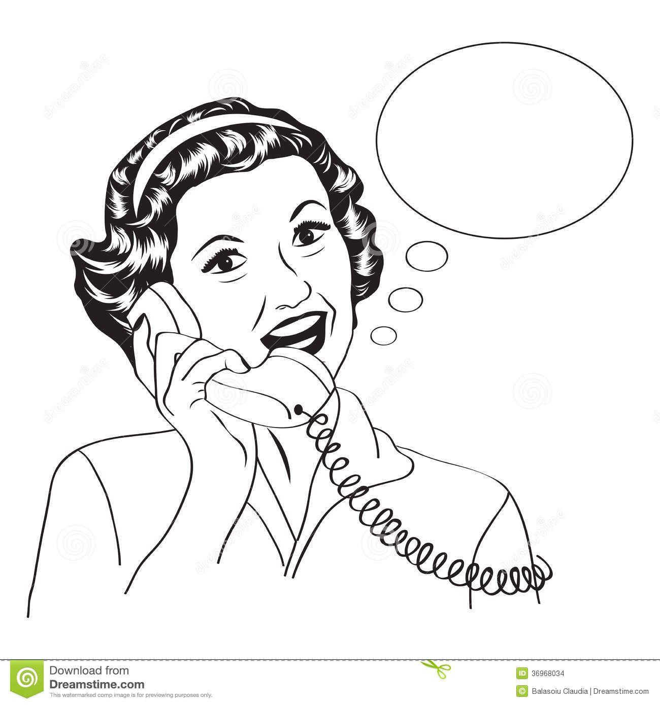 Popart Comic Retro Woman Talking By Phone Pop Art Pop Art Comic Retro
