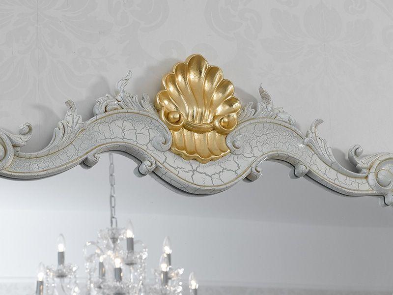 Bagno Barocco ~ Specchio stile barocco veneziano crackle particolari foglia oro