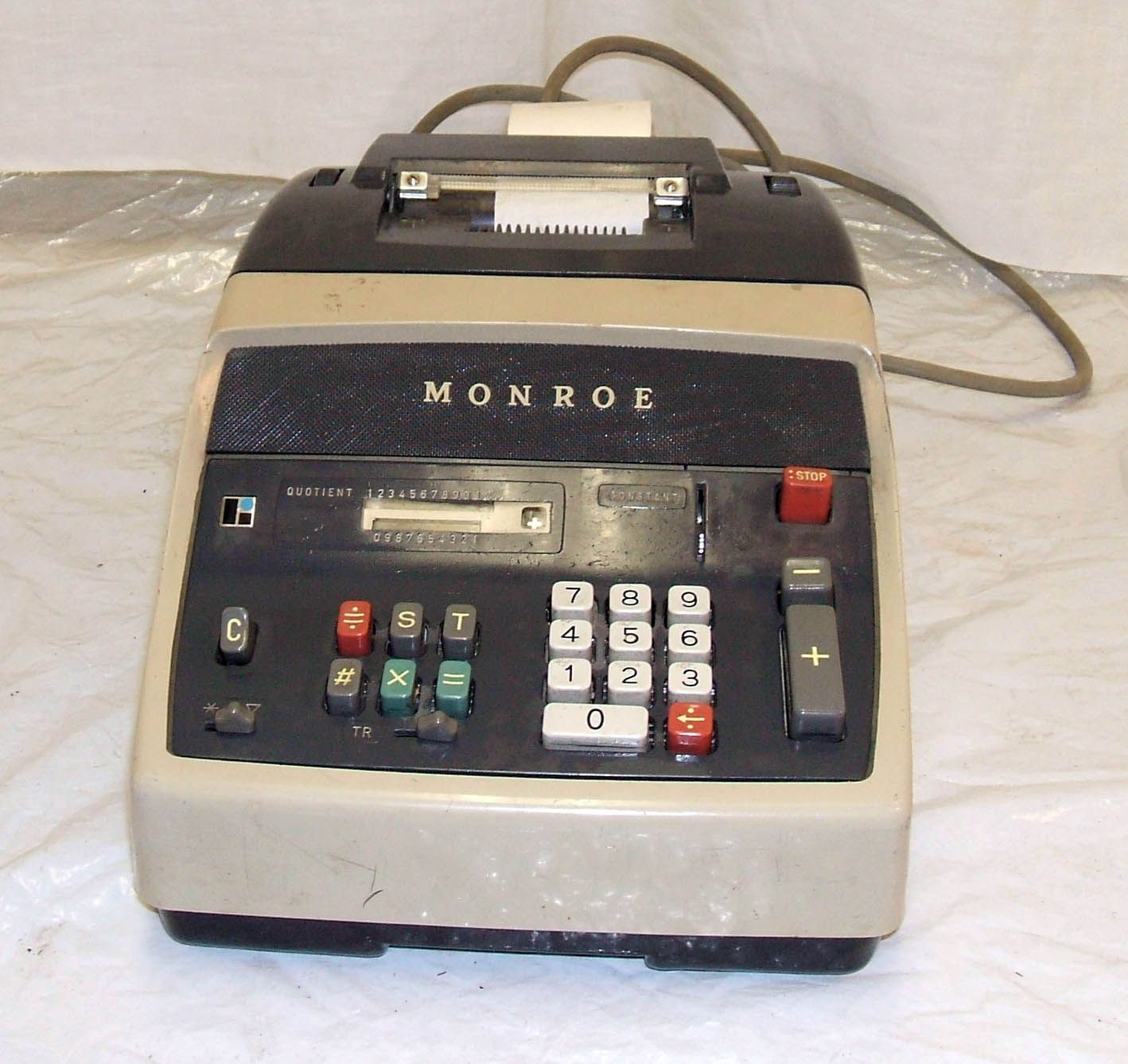 Monroe 10 Key Adding Machine Electronic Products 10 Things Office Equipment
