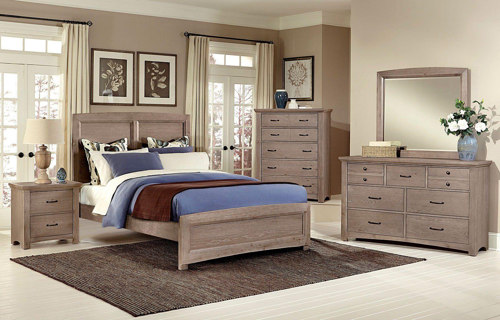 Transitions Panel Bedroom Set (Driftwood Oak) King