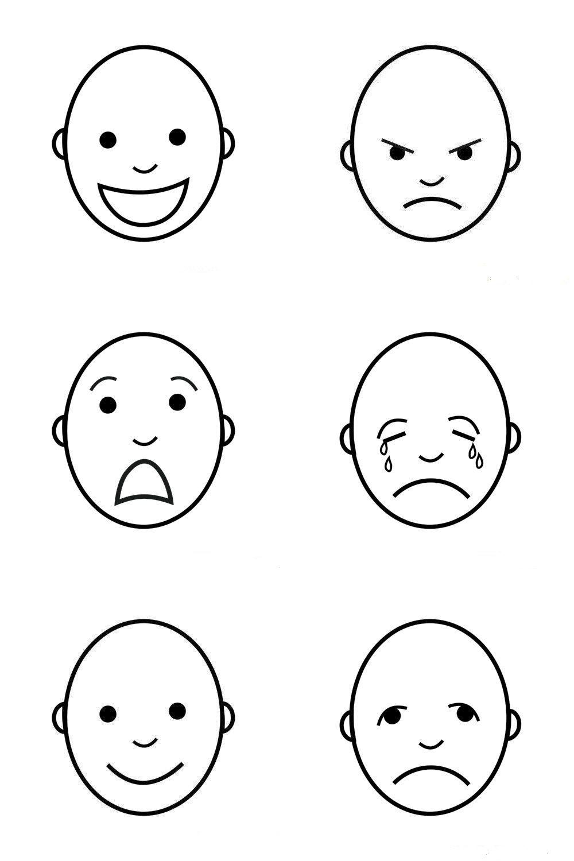 Duygular Boyamasayfası Okulöncesi Feelings And Emotions School