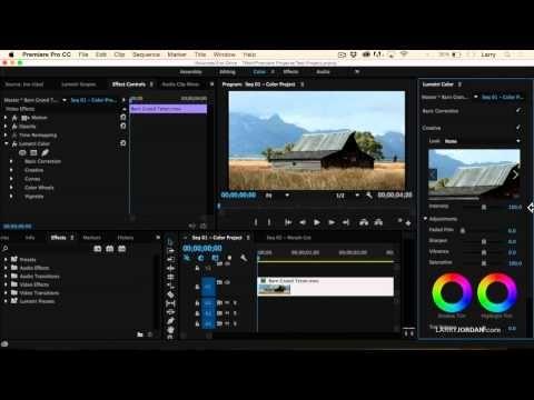 Adobe Premiere Pro Cc 2015 New Video Scopes And Lumetri Color Panel Premiere Pro Cc Adobe Premiere Pro Premiere Pro