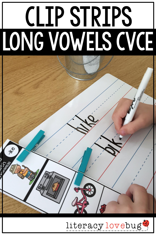 Word Families Cvce Long Vowels Clip Strips