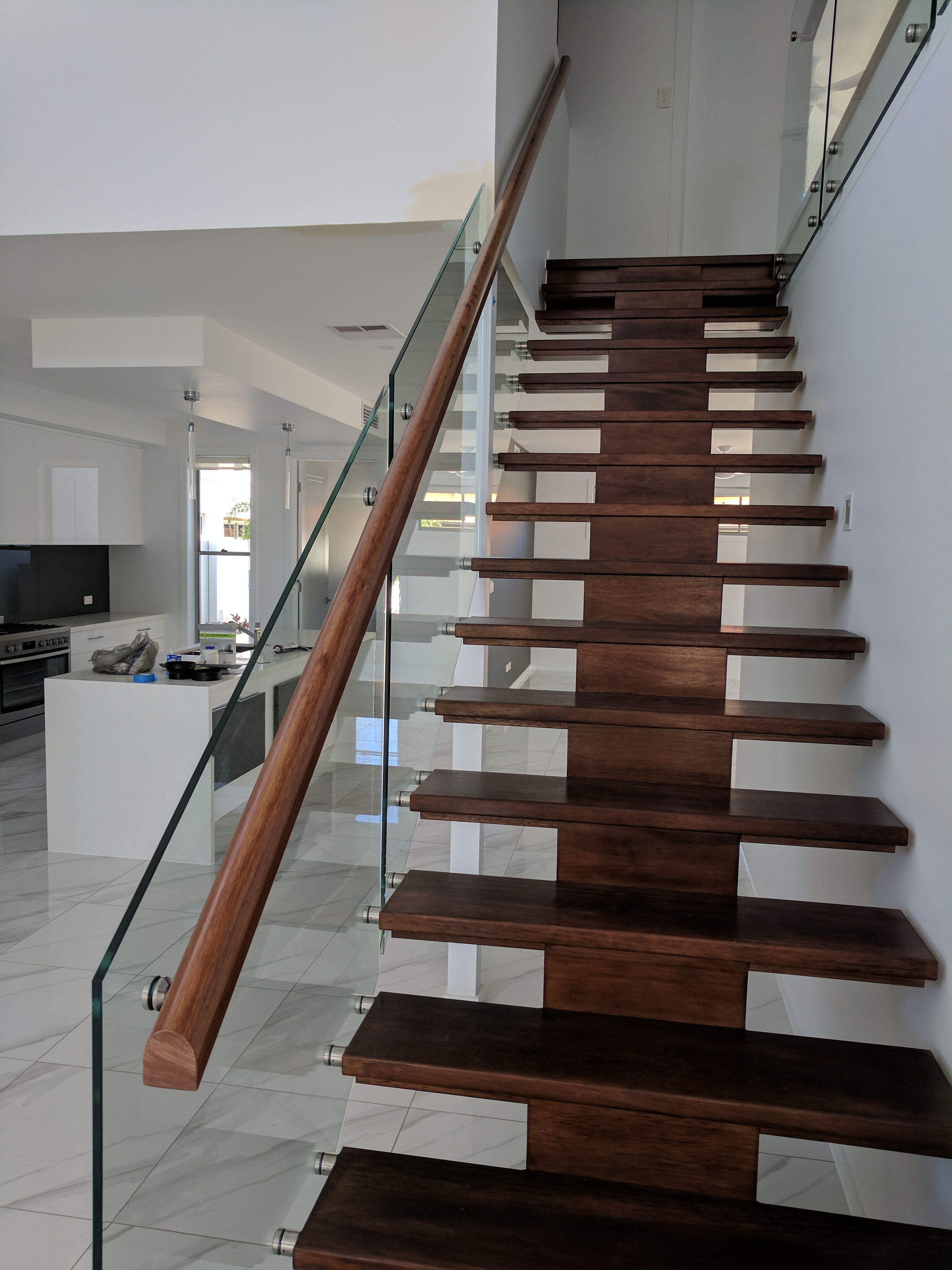 Best Internal And Glass Staircase Frameless Balustrade Stairs 400 x 300