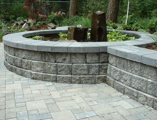 Concrete Cement Molds 4 Pc Retaining Wall Block Molds Plastic Forms Concrete Retaining Walls Concrete Stone Molds Stone Retaining Wall