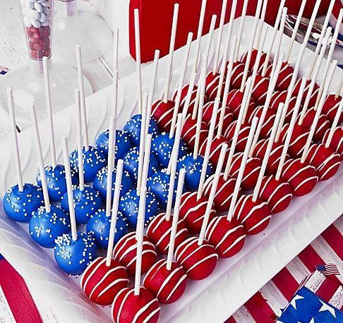 Flag Inspired Cakepops