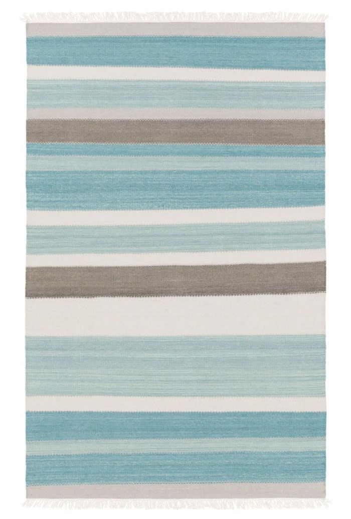 This Blue And Ivory Ceci Rug Features Bold Vibrant