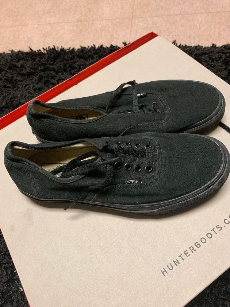 Vans Authentic All Black   Black Men s Classic Canvas Unisex Shoes  fashion   clothing  shoes  accessories  unisexclothingshoesaccs  unisexadultshoes ( ebay ... f32846083