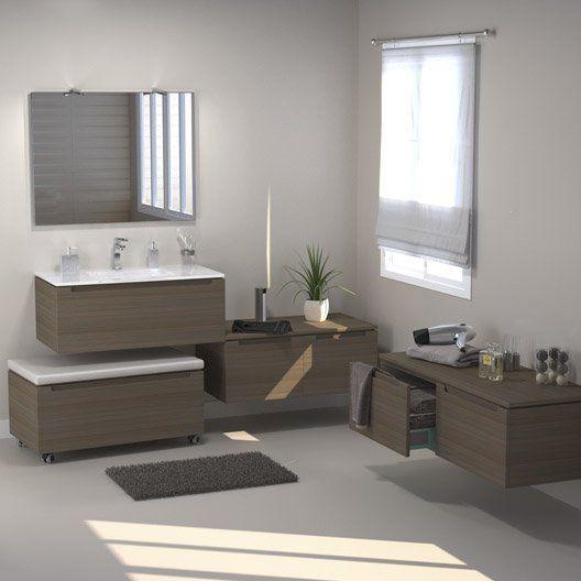 meuble de salle de bains néo, imitation noyer   salle de bain ... - Imitation Meuble Design