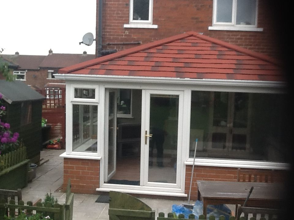 Edwardian Tiled Conservatory Roof In Antique Red Metro Tile Tiled Conservatory Roof Conservatory Roof Roof