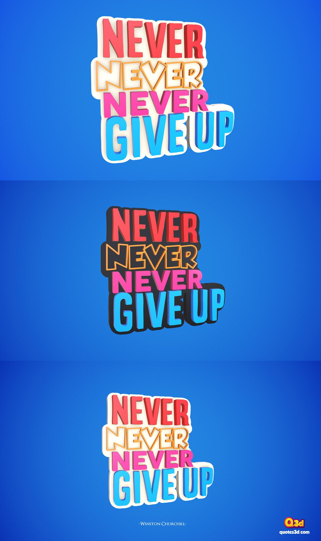 Never Never Never Give Up By Winston Churchill Quotes Quote