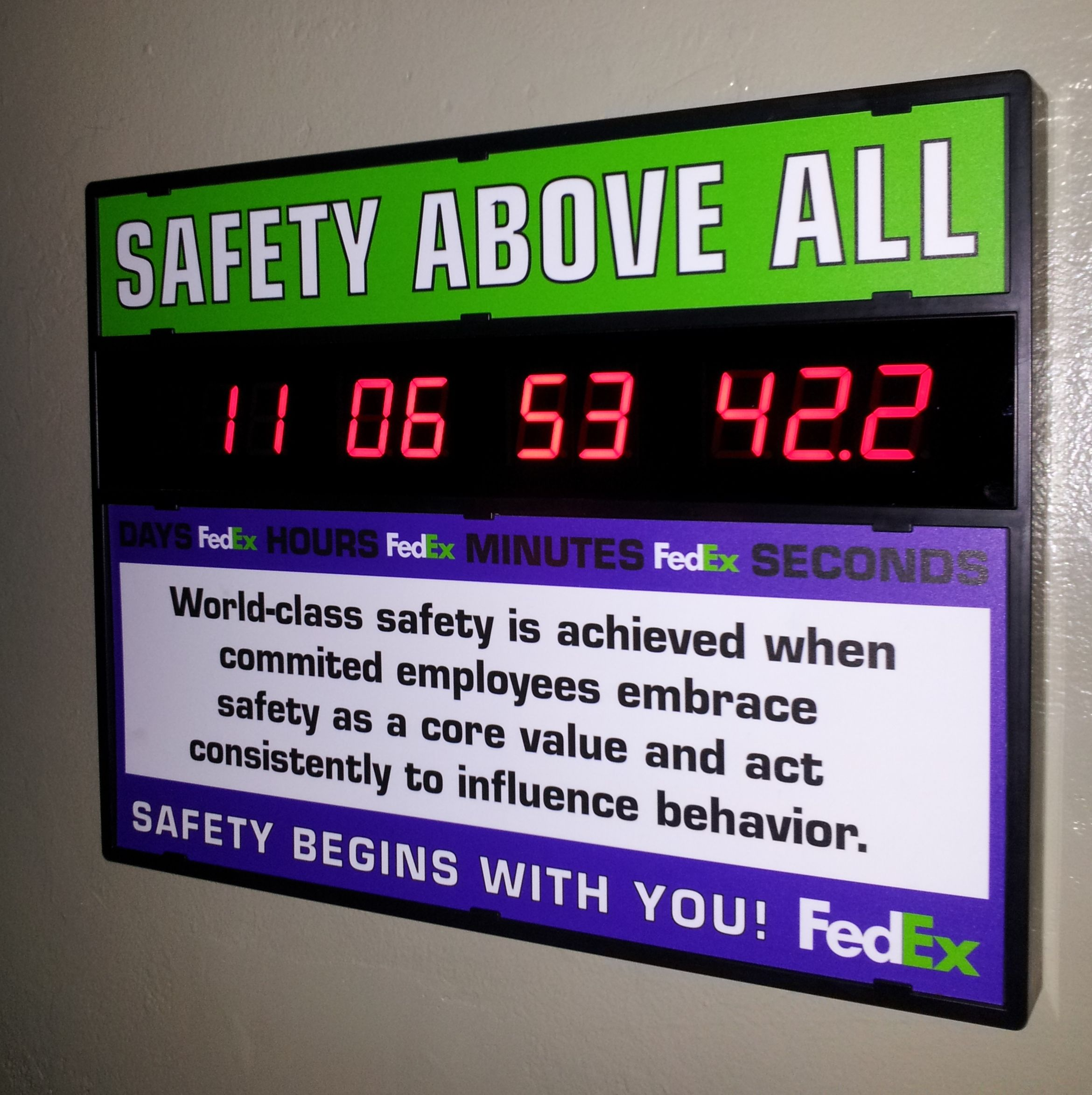 FedEx Ground Safety First clock (With images) Safety 1st