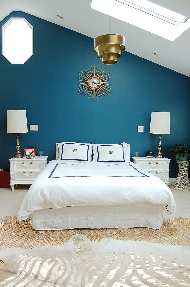 teal bedroom feature wall - Google Search | Bedroom ...