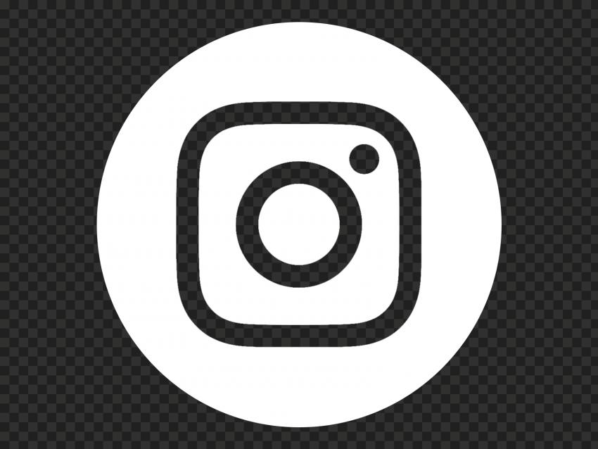 Hd White Instagram Round Logo Icon Png In 2021 Round Logo Logo Icons Icon