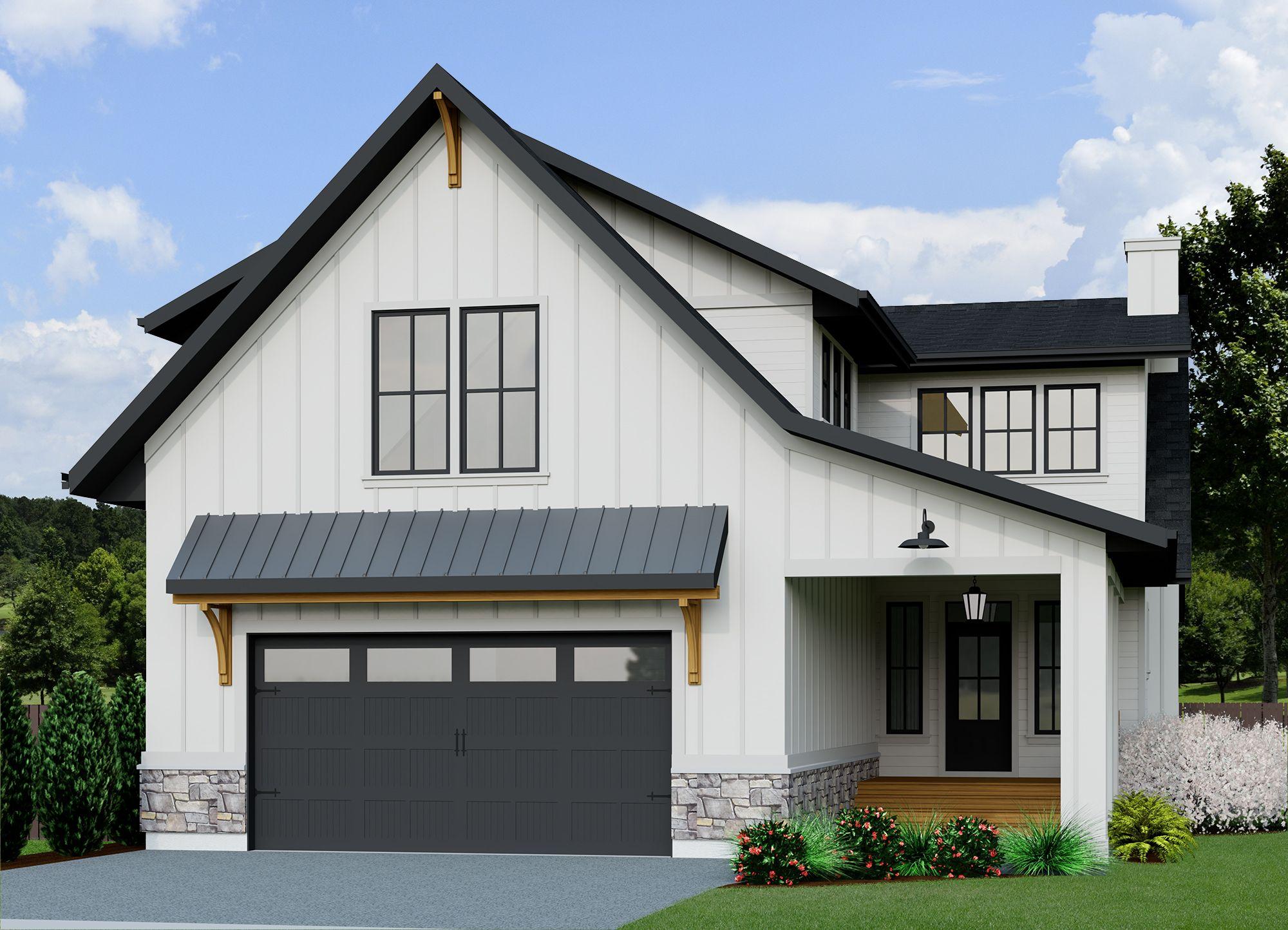 Modern Farmhouse Vantage-2484 in 2020 | Modern farmhouse ...