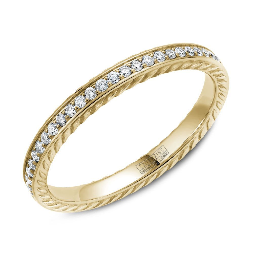 Rope Collection Wb 029rd25y M6 Womens Wedding Bands Wedding Bands Wedding Bands For Her