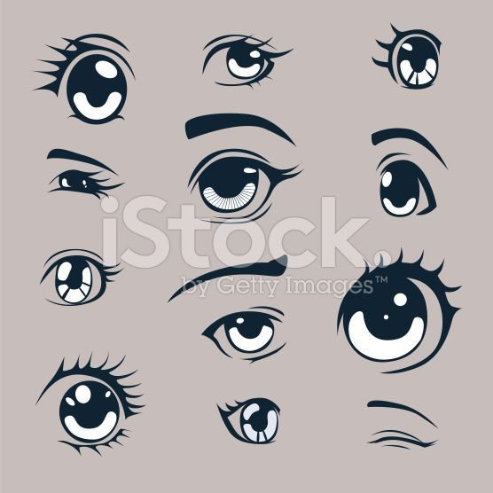 Anime Style Eyes Set Anime Eyes Anime Art