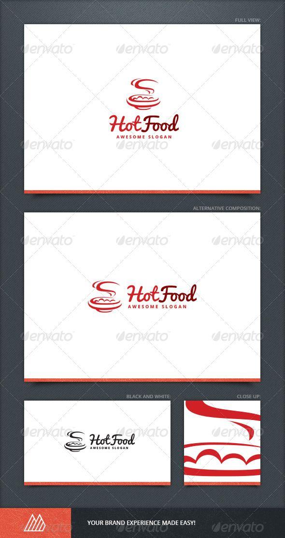 Hot Food Logo Template  Food Logos Logo Templates And Template