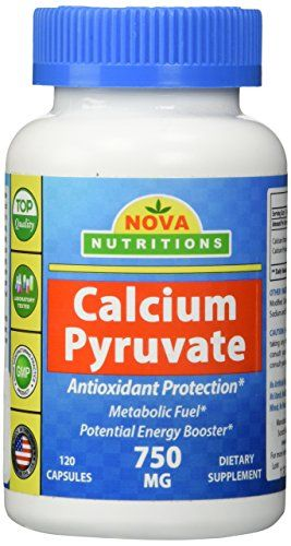 Nova Nutritions Calcium Pyruvate 750 mg 120 Capsules ** For more information, visit image link.Note:It is affiliate link to Amazon.