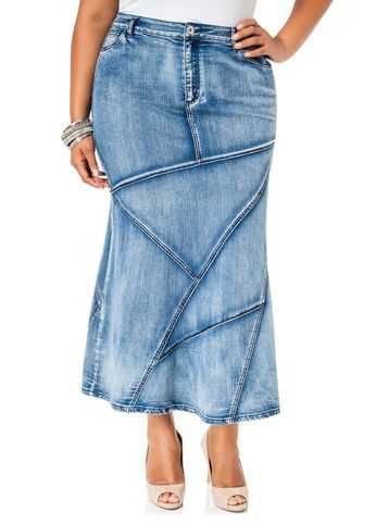 Potassium Wash Denim Skirt