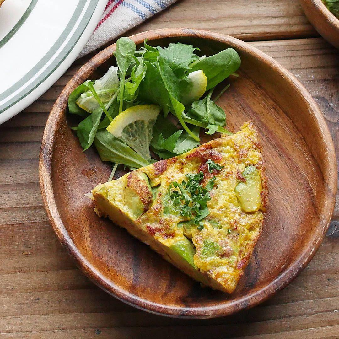 コンビーフとアボカドのスパニッシュオムレツ Macaroni レシピ レシピ 料理 レシピ 健康 レシピ