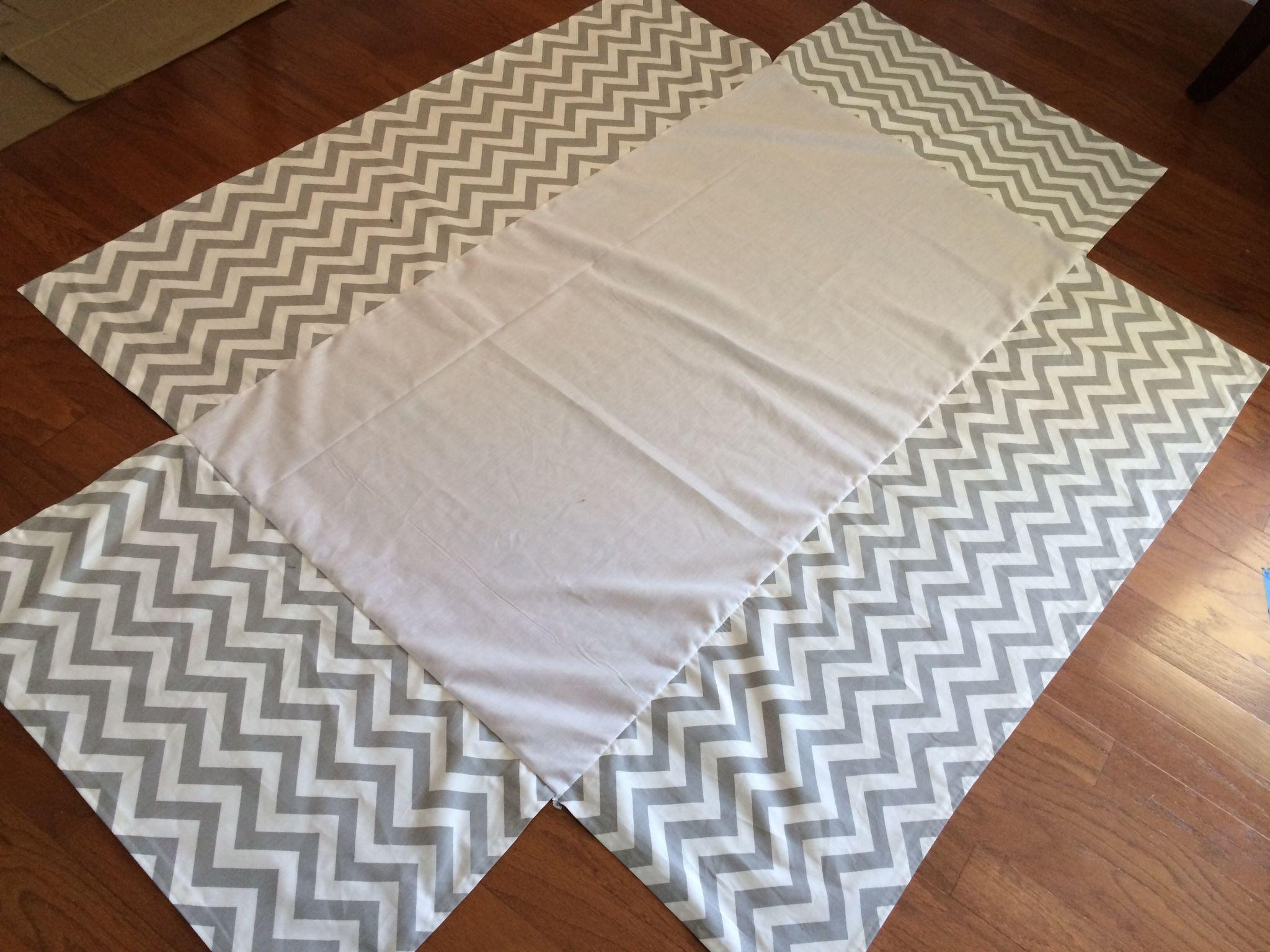 DIY tutorial, sew your own crib skirt- http://sewsassycreations.com ...