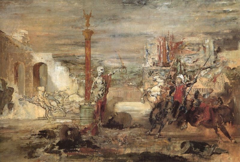 Death Offers Crowns to the Winner of the Tournament, c.1855-1860, Gustav Moreau