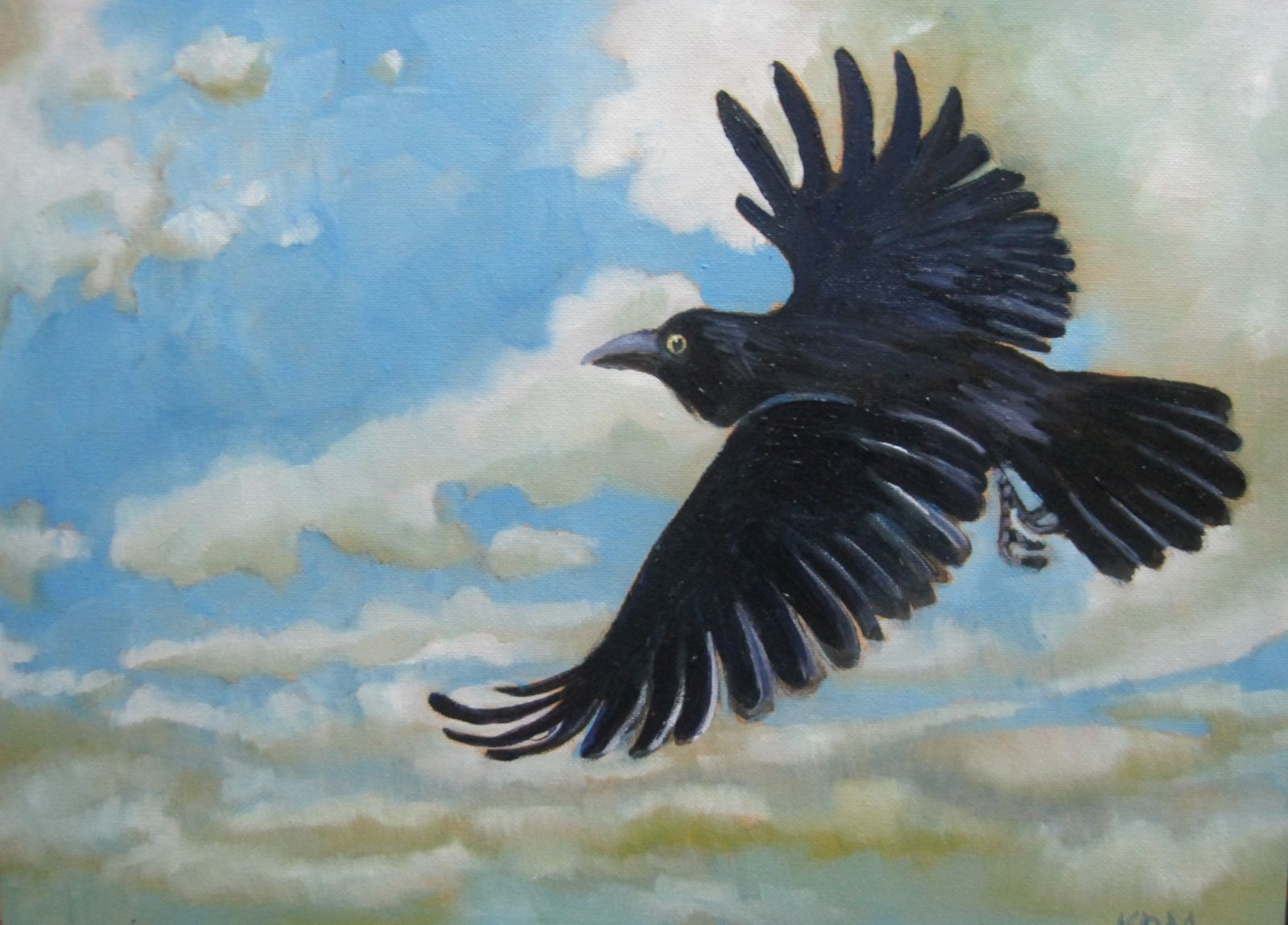 Karl MacKeeman - Raven in Flight | BLACKBIRD SINGING IN THE