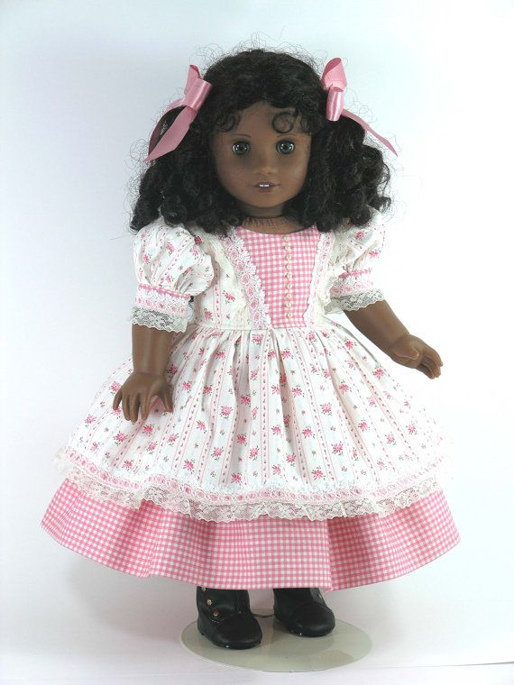 American Girl Doll Clothes Cecile 1850s Dress by LidiDesigns | AG ...
