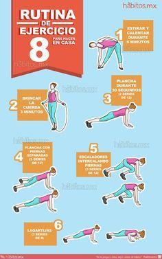 8 rutina de ejercicio para hacer en casa proyectos a intentar pinterest - Ejercicios yoga en casa ...