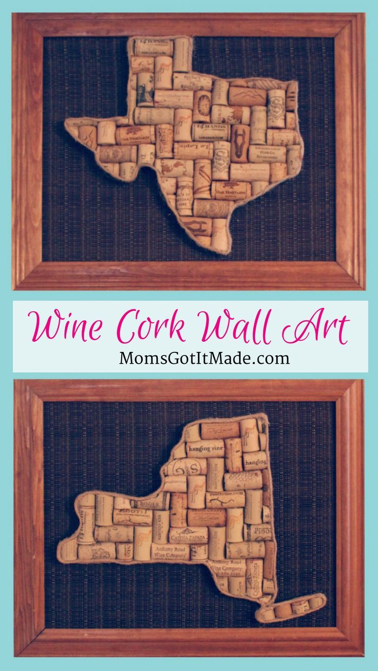 New york state wine cork wall art tutorial easy diy home decor idea