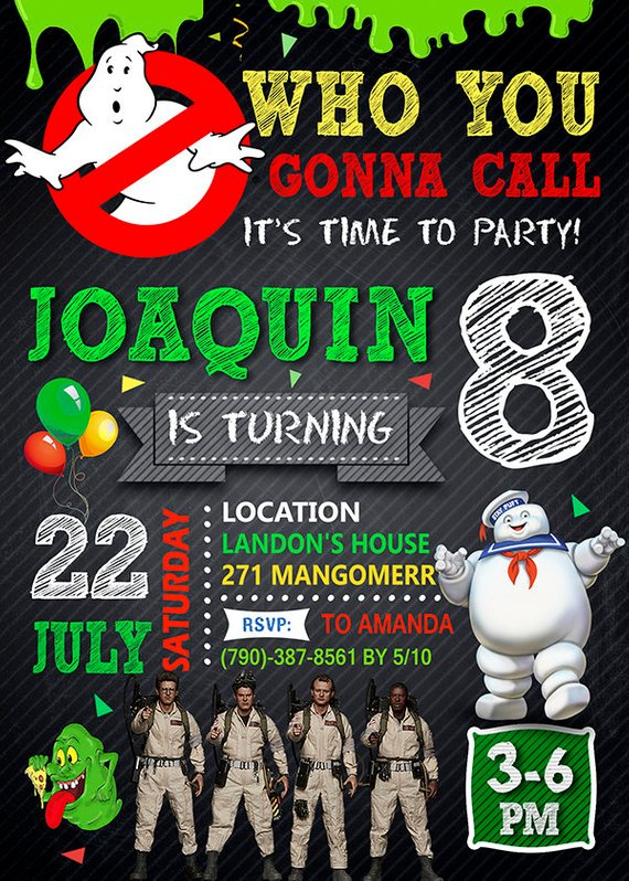 Ghostbusters Invitation Ghostbusters Invite Ghostbusters Birthday