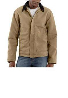 Carhartt Mens J164 Sandstone Sherpa Lined Dearborn Jacket - Camel | Buy Now at camouflage.ca