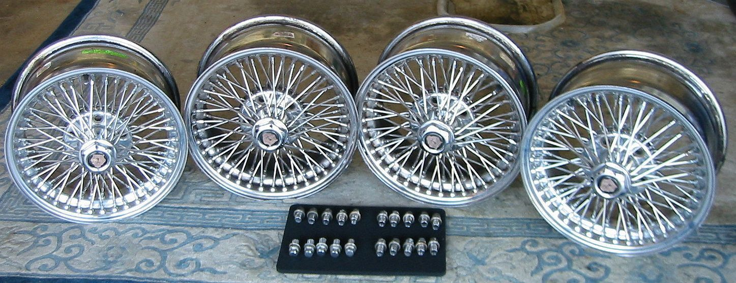 Dayton Wire Wheels (Jaguar XJS Used One Piece Chrome Steel Rims ...