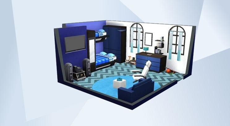 Blue Bedroom For Men check out this room in the sims 4 gallery! - for the sim who loves