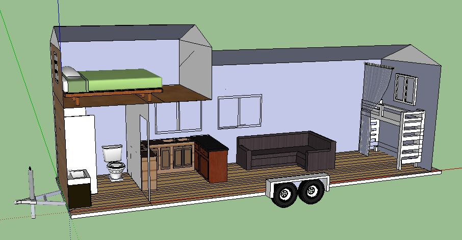 tiny house trailer plans 8x24 tiny house plans 8x24