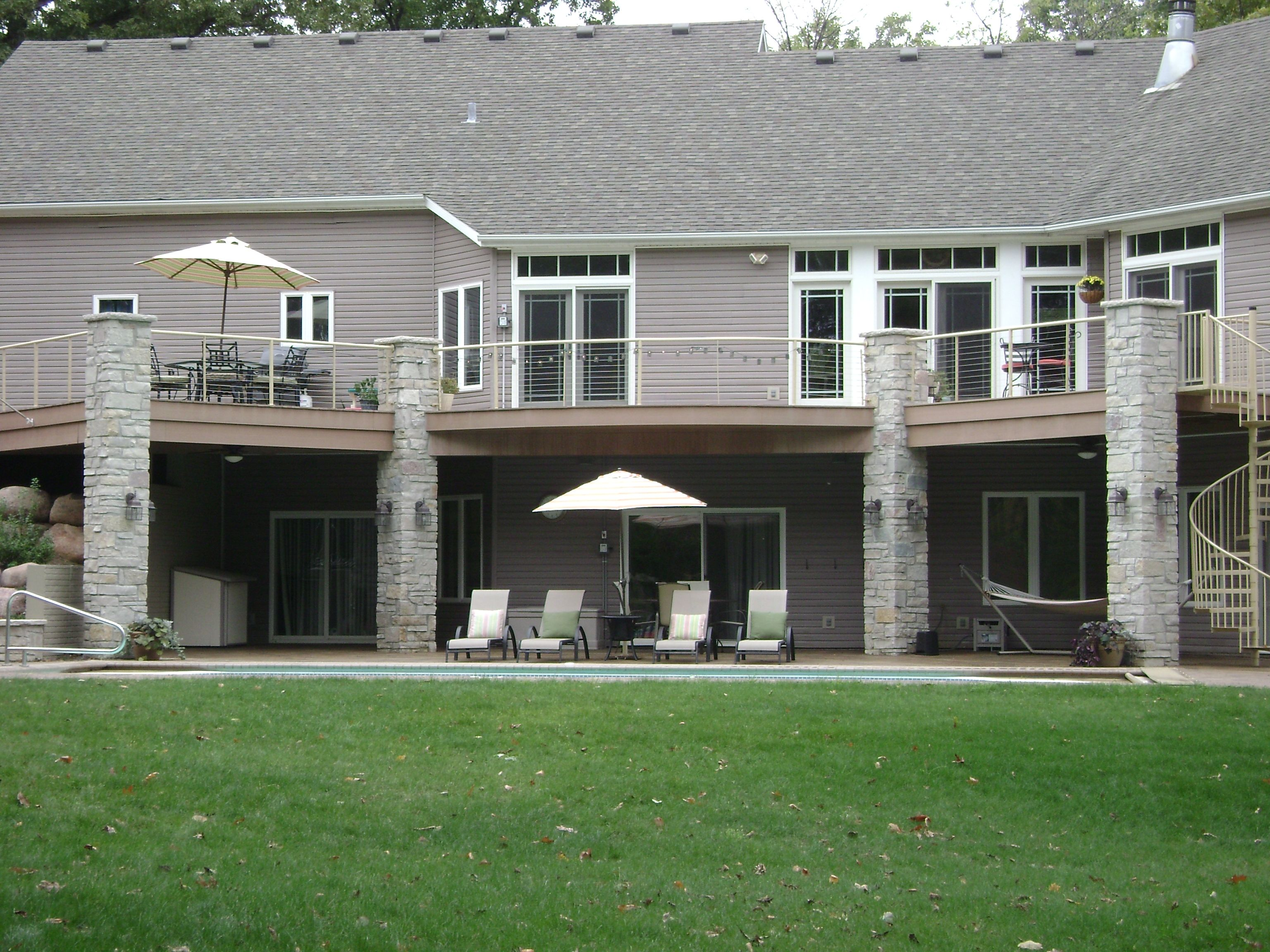Image result for deck ideas above walkout basement ... on Walkout Patio Ideas id=29227