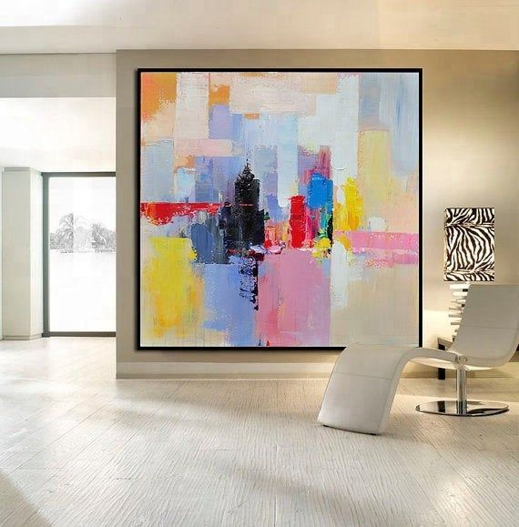Oversize Wall Art Painting Modern Abstract Color Mixture Etsy In 2021 Contemporary Art Canvas Art Painting Modern Art Abstract