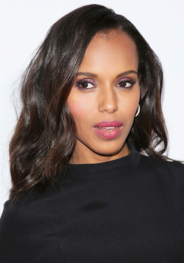 Kerry Washingtons Amethyst Eye Shadow Plus More Celeb Beauty