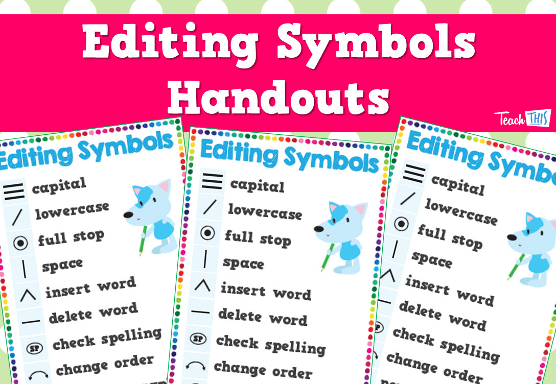 Editing Symbols - Handout | writing ideas | Pinterest | Symbols ...