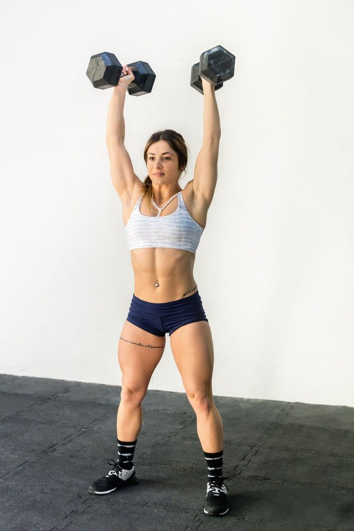 """According to a CrossFit Coach, This Dumbbell Workout Is """"Quite the Shoulder Smoker"""""""