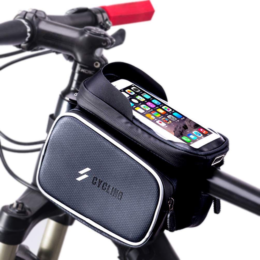 Longteng Bike Frame Bag Waterproof Top Front Tube Bike Bag